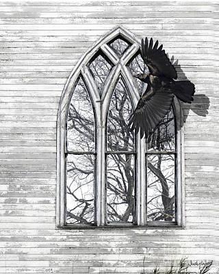Judy Wood Digital Art - Crow Church by Judy Wood