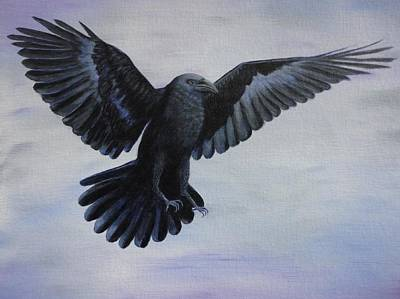 Yosemite Painting - Crow Flight by Xochi Hughes Madera