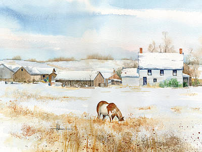 Horse Giclee Painting - Crow Foot Valley Ranch by Richard Hahn