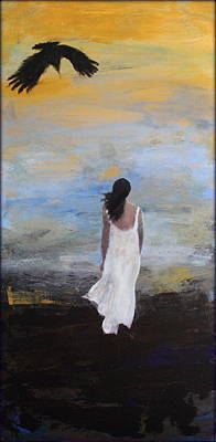 Painting - Crow II by Rosemarie Hakim