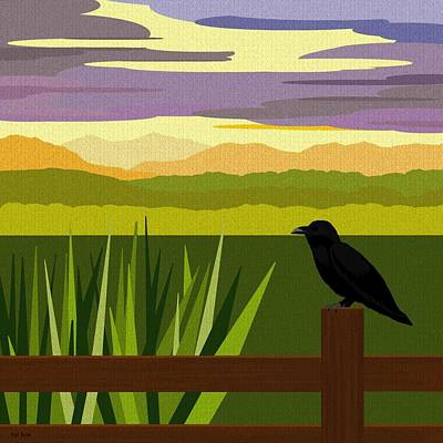Crow In The Corn Field Art Print