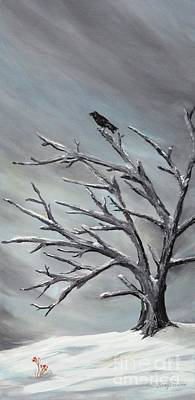 Painting - Crow In Tree by Jesslyn Fraser