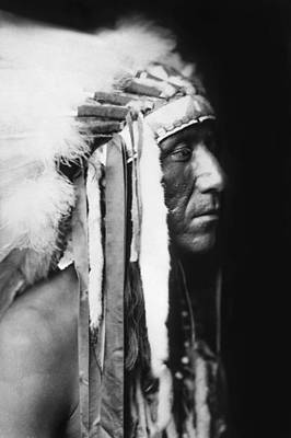 Photograph - Crow Indian Man Circa 1905 by Aged Pixel