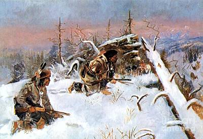 Painting - Crow Indians Hunting Elk by Roberto Prusso