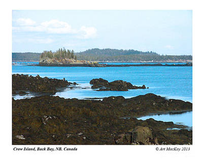 Crow Island Bay Of Fundy Nb Art Print