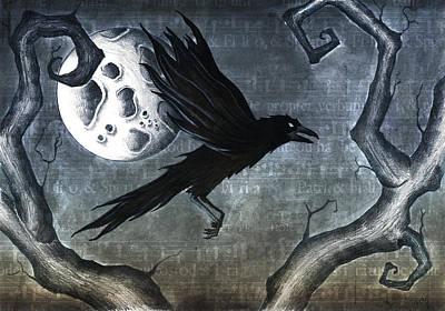 Crow. Bird Music Mixed Media - Crow by Jody Scheers