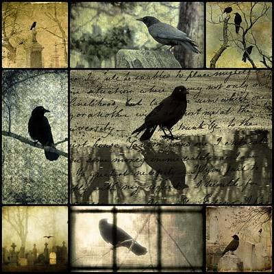Crow Merge Art Print