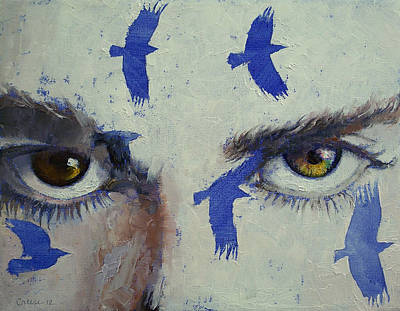 Lowbrow Painting - Crows by Michael Creese