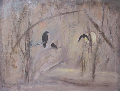 Crow Moon #3 Original by Ethel Vrana