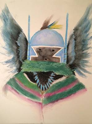Katsina Pastel - Crow Mother Kachina by Sean Begaye
