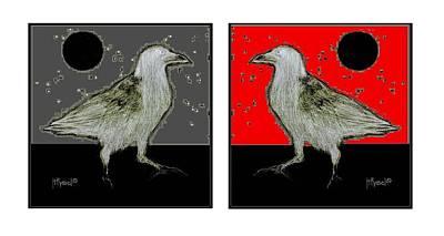 Crow5 Art Print by Herb Russel