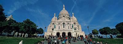 Crowd At A Basilica, Basilique Du Sacre Art Print by Panoramic Images