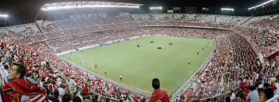 Crowd In A Stadium, Sevilla Fc, Estadio Print by Panoramic Images