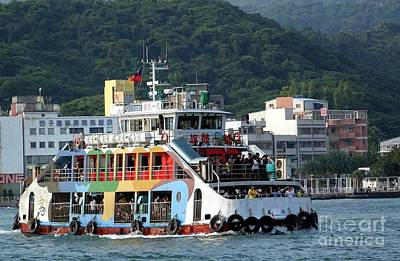Photograph - Crowded Ferry Boat In Kaohsiung Port by Yali Shi