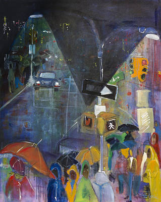 Painting - Crowded Intersection by Leela Payne