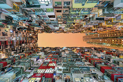 Hong Kong Photograph - Crowded Spaces by Gerald Macua