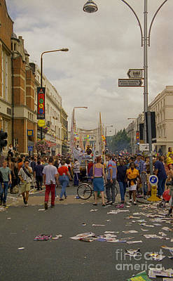 Photograph - Crowds At Carnival Notting Hill Celebrations by Richard Morris