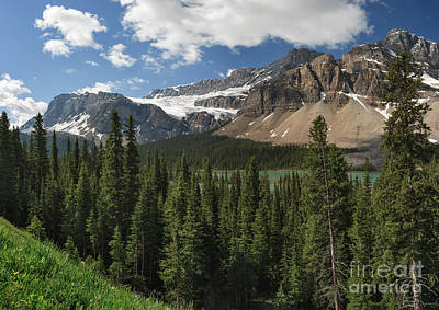 Photograph - Crowfoot Glacier And Mountain by Charles Kozierok