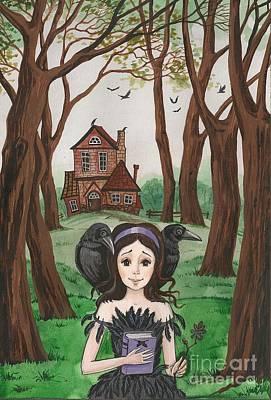 Crowgirl Art Print by Margaryta Yermolayeva