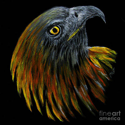Painting - Crowhawk Original by Peter Piatt
