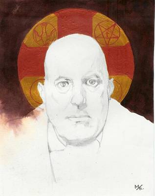 Religious Icon Drawing - Crowley A by Agenor  Marti