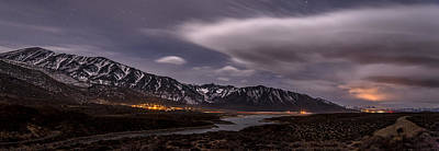 Photograph - Crowley Lake At Night by Cat Connor