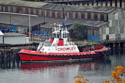 Fireboat Photograph - Crowley Tugboat by Tikvah's Hope