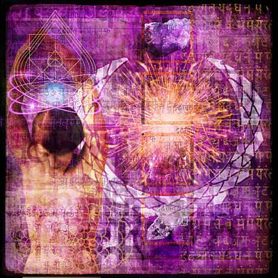 New Mind Digital Art - Crown Chakra. by Mark Preston