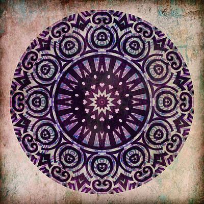 Radiating Chakra Digital Art - Crown Chakra Radiates by Miabella Mojica