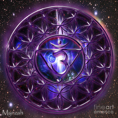 Sahasrara Digital Art - Crown Chakra Sahasrara  by Mynzah Osiris