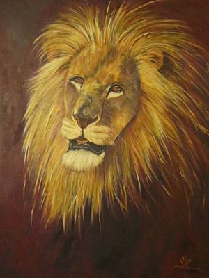 Crown Of Courage,lion Art Print