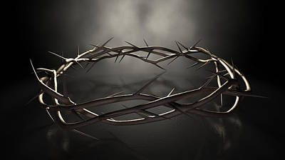 Crucifixion Digital Art - Crown Of Thorns by Allan Swart