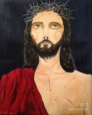 Art Print featuring the painting Crown Of Thorns by Brindha Naveen