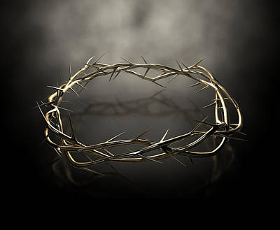 Crown Of Thorns Gold Casting Art Print