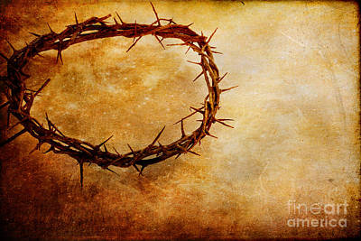 Jesus Christ Icon Photograph - Crown Of Thorns by Stephanie Frey