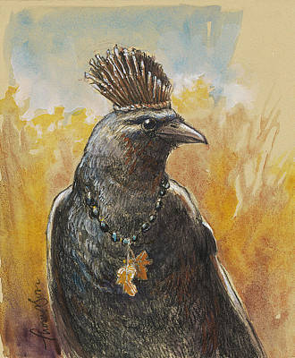 Crows Mixed Media - Crown Of Twigs by Tracie Thompson
