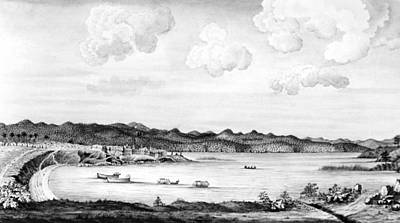 Row Boat Drawing - Crown Point, 1759 by Granger