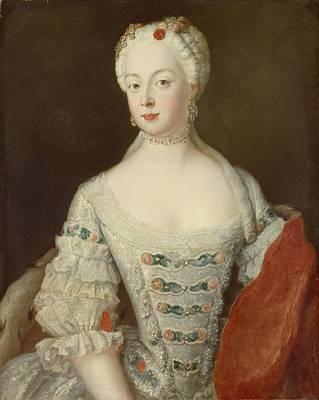 Crown Princess Elisabeth Christine Von Preussen, C.1735 Oil On Canvas Art Print by Antoine Pesne