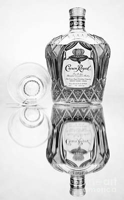 Photograph - Crown Royal Black And White by Glenn Gordon
