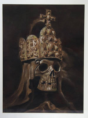 Drawing - Crowned Death by Paez  Antonio