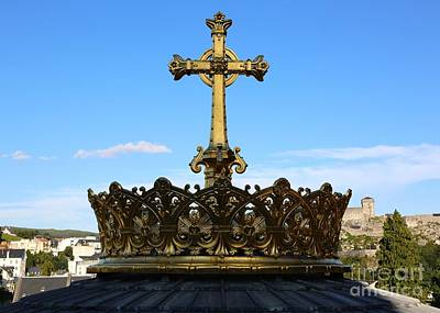 Photograph - Crowned Dome Of Our Lady Of Lourdes Basilica by Carol Groenen