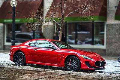 Cars Photograph - Crowned Red by Ryan Crane