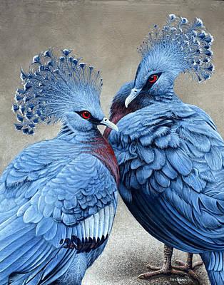 Crowned Victorians Art Print by Cara Bevan