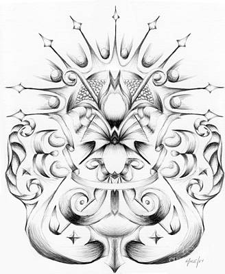 Wall Art - Drawing - Crowning Glory by Michael Ivy