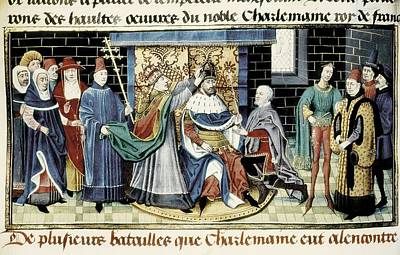 Crowning Of Charlemagne 800 Art Print