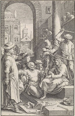 Crowning With Thorns, Ludovicus Siceram, Hendrick Goltzius Art Print