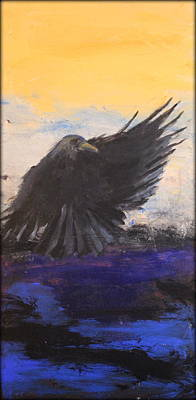 Painting - Crows I by Rosemarie Hakim