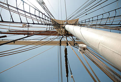 Photograph - Crows Nest - Tall Ship Elissa Galveston Texas by John Black