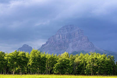 Crowsnest Mountain At Crownest Pass Art Print by Chuck Haney