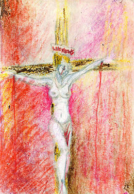 Jesus Christ Drawing - Crucified  by Kd Neeley